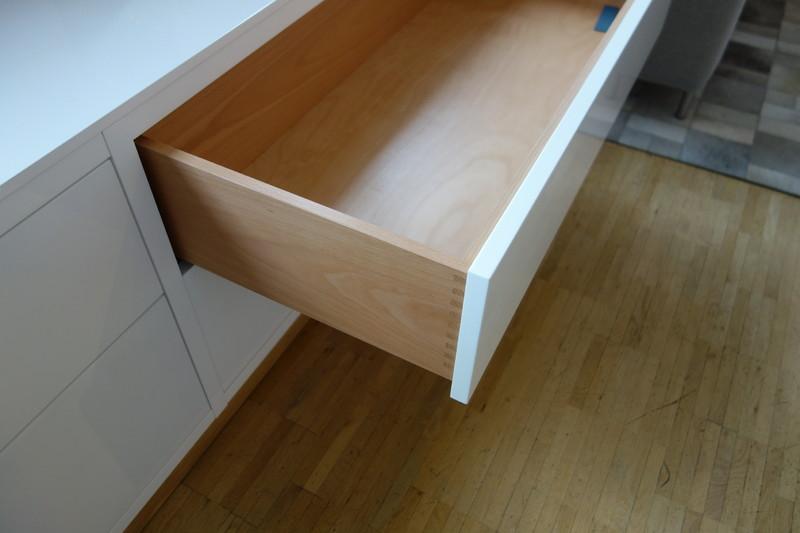 neue wiener werkst tten lowboard lack weiss lack. Black Bedroom Furniture Sets. Home Design Ideas
