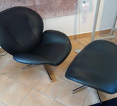 Ligne Roset Sessel m. Hocker MYO
